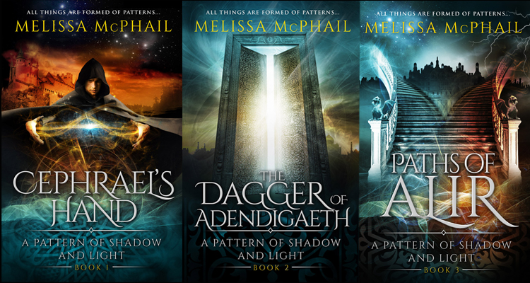 They're here! Spectacular new covers for A Pattern of Shadow & Light Books 1-3